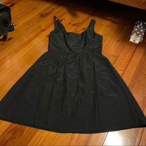 Vineyard Vines fit and flare black silk dress